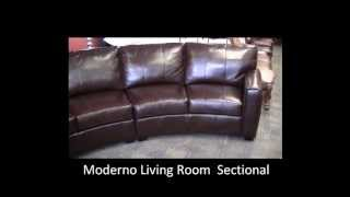 Moderno Leather Living Room Sectional San Tan Furniture