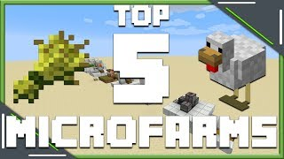 Top 5 Simple Micro Farms That You NEED! | Minecraft 1.14