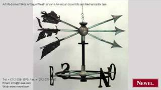 Art Moderne/1940s Antique Weather Vane American Scientific