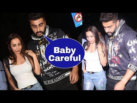 Omg ! Arjun Kapoor and Malaika Arora first time seen in public after their engagement !