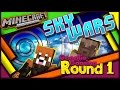 Minecraft Xbox Sky Wars with Map Download | Round 1 With The Mining Cake & Paige the Panda