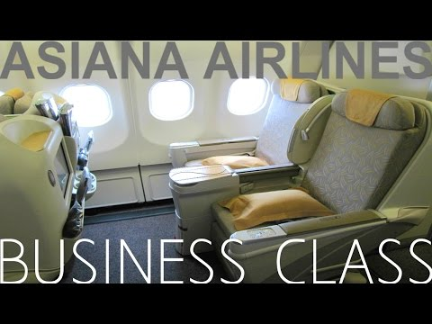 Asiana Airlines BUSINESS CLASS Hong Kong to Seoul|Airbus A330-300