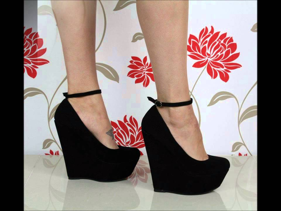 4d62b1b4137 Detachable ankle strap wedge shoes - YouTube