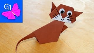 Оригами котенок ❤️ Животные из бумаги