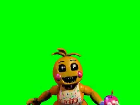 Fnaf 2 toy chica jumpscare green screen youtube
