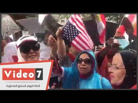الجالية المصرية تتابع خطاب الرئيس من أمام الأمم المتحدة  - 00:21-2017 / 9 / 20
