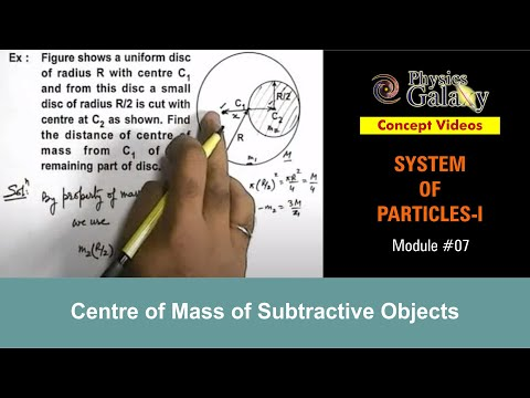 7. Physics | System of Particles | Centre of Mass of Subtractive ...
