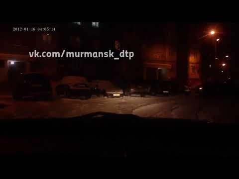 Мурманск, треснула машину и уехала...