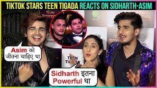 Teen Tigada Samiksha, Bhavin, Vishal REACT On Sidharth Shukla's WIN | Tu Bhi Royega Song Launch