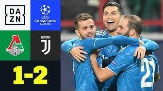 90+3! Costa schießt Juve ins Achtelfinale: Lok Moskau - Juventus 1:2 | UEFA Champions League | DAZN