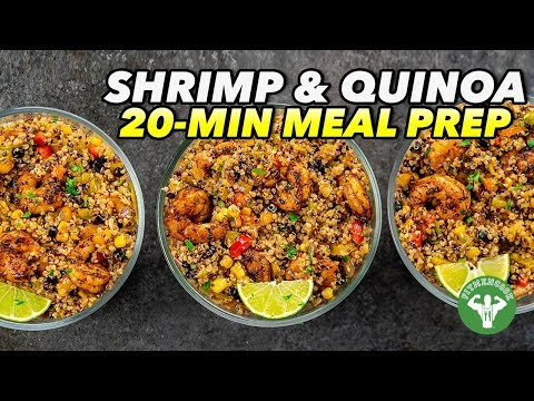 High-Protein Shrimp Burrito Bowl