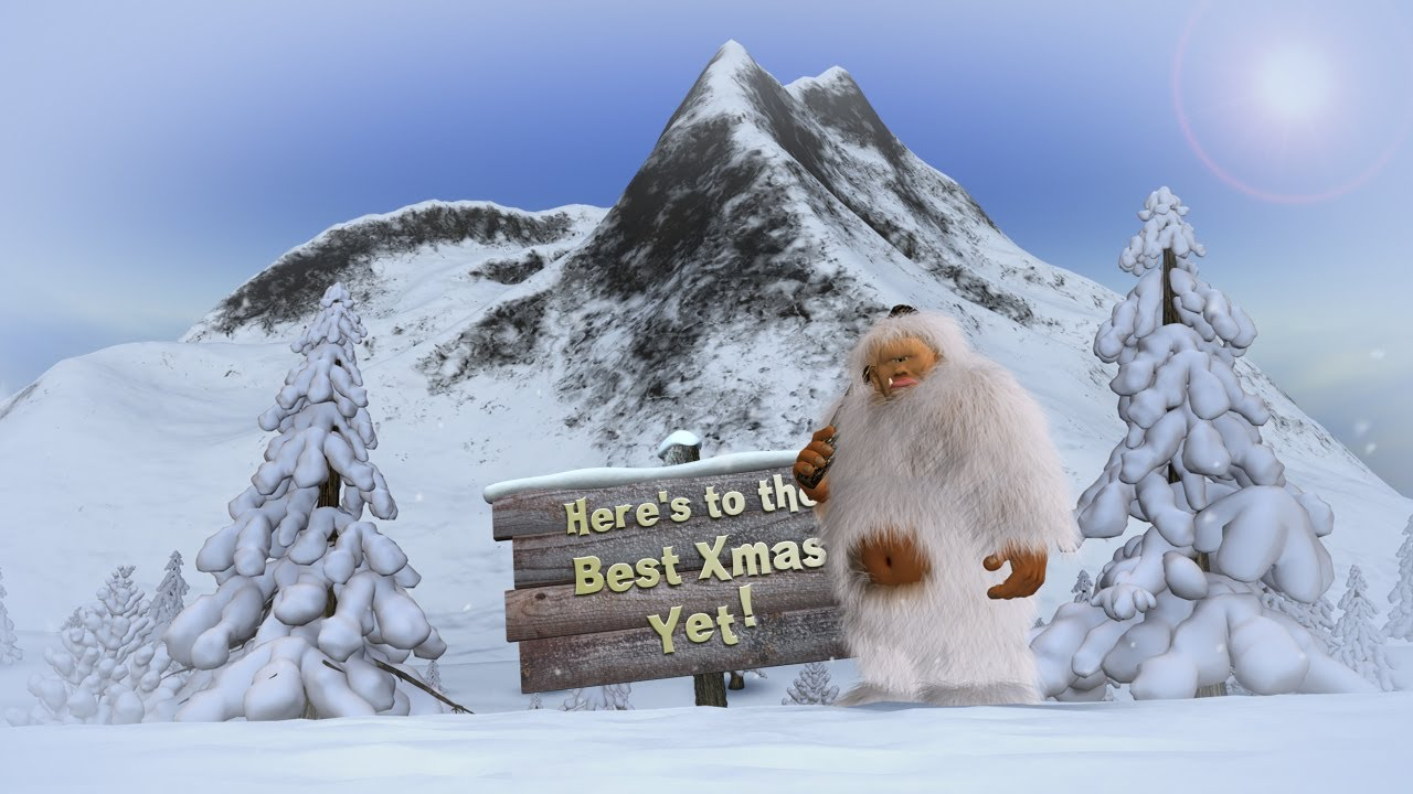Animated Christmas Card Template Best Xmas Yeti YouTube