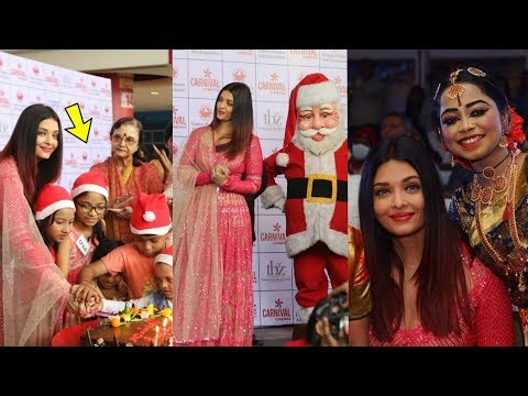 Aishwarya Rai Bachchan looks so beautiful at Chritmas celebrations with Cancer Survivour Kids