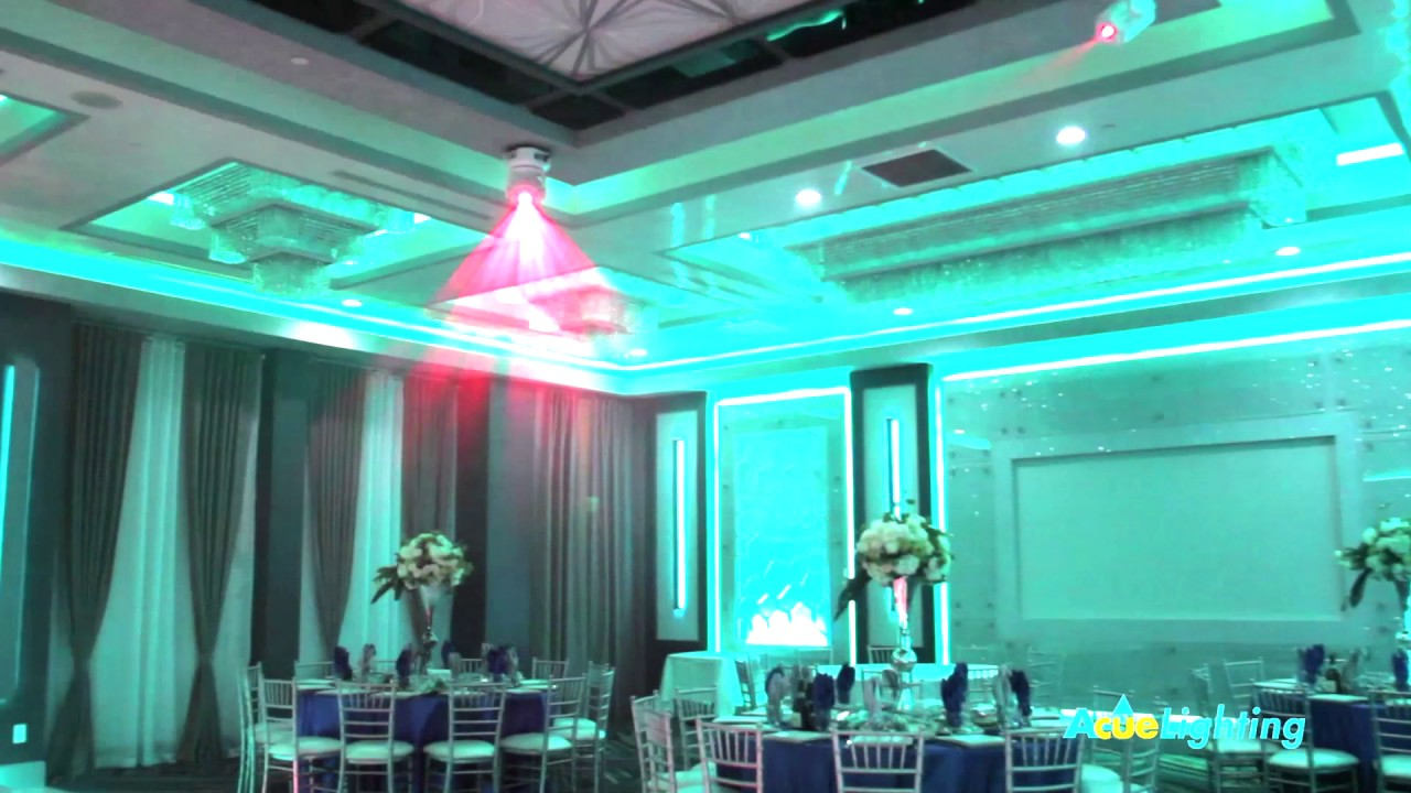 Bellezza Banquet Hall Acue Lighting Custom Design Installation Programming Acuelighti