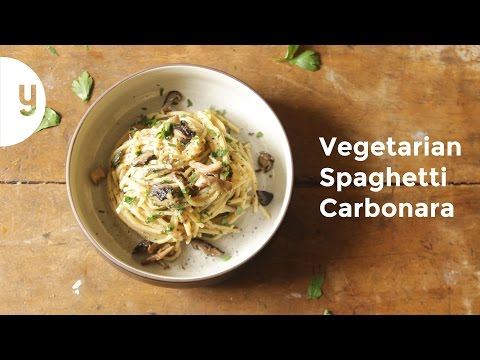 How to Make Vegetarian Carbonara | Yummy Ph