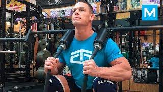 John Cena - Strongest WWE Wrestler Workout | Muscle Madness