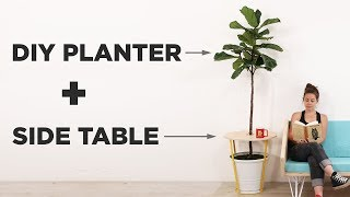 DIY Planter and Side Table