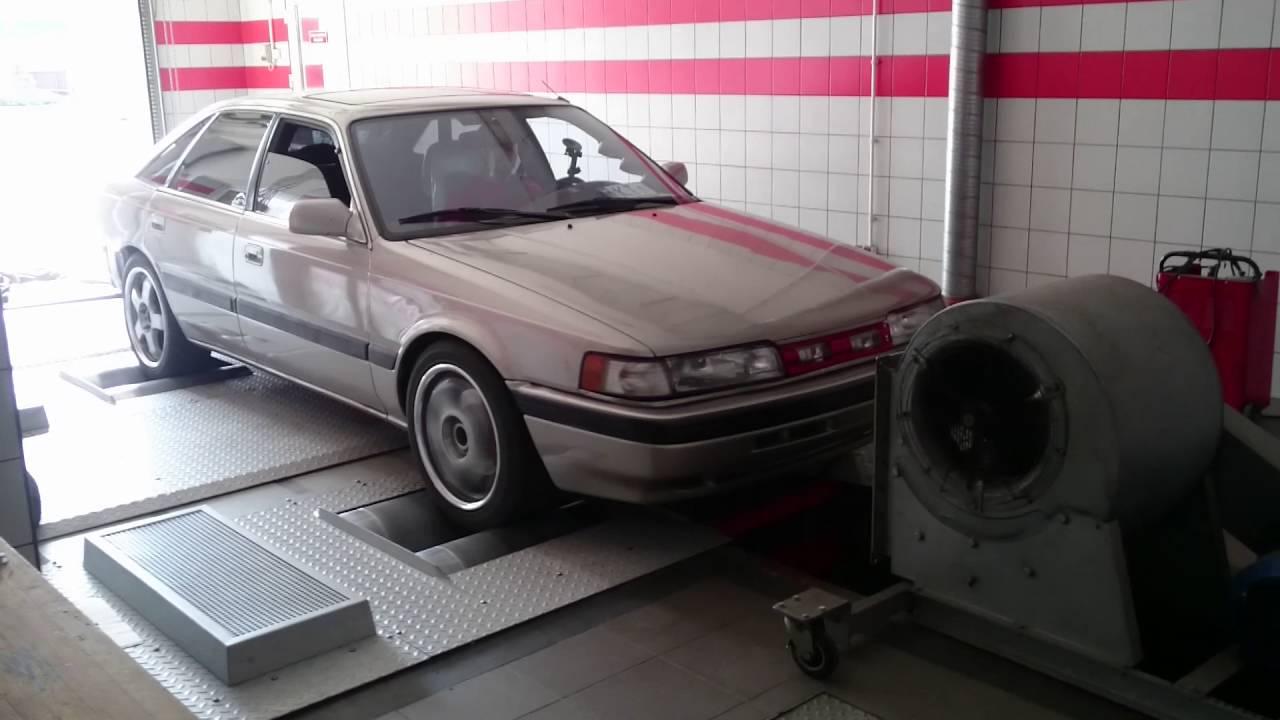 mazda 626 gd usdm f2t 2.2 turbo dyno day - youtube