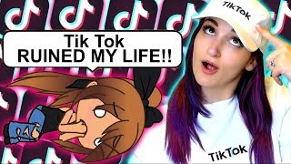 My TikTok OBSESSION Ruins My Life | Weird Gacha Life Story Reaction