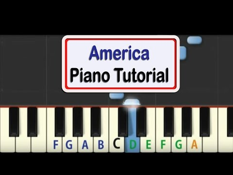 Easy Piano Tutorial For America With Free PDF Piano Sheet Music