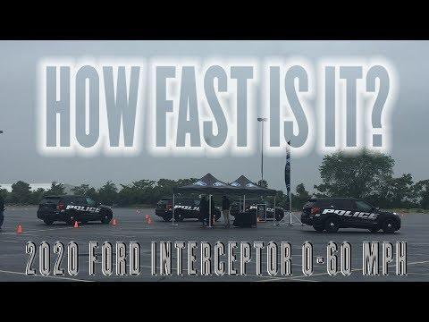 2020 Ford Police Interceptor 0-60 MPH - 3.0L / EcoBoost V6 3.3L Hybrid V6 / 3.3L V6