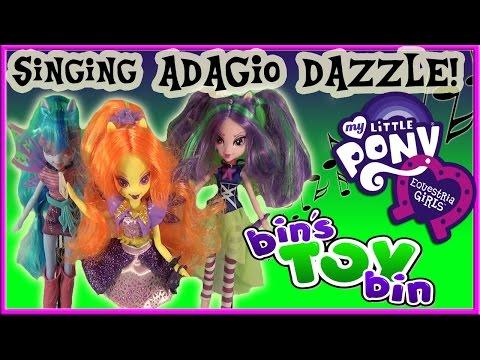Equestria Girls Singing ADAGIO DAZZLE My Little Pony Doll Review! by Bin's Toy Bin