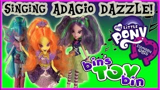 Equestria Girls Singing Adagio Dazzle My Little Pony Doll Review! By Bin's Toy Bin