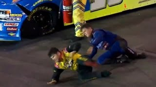 live reactions dumbest fight in nascar history