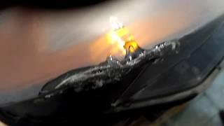 ремонт фари з діркою в склі!!!