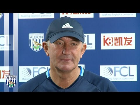 Tony Pulis speaks to the press ahead of tomorrow's Premier League fixture against West Ham United