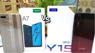 Vivo Y15 vs Oppo A7 Unboxing II Camera Test II Full Comparison II कौन सबसे अच्छा है ? ✅