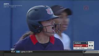 Auburn Softball vs Georgia WCWS Highlights