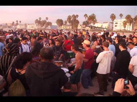 Venice Beach Sunday sunset drum circle, part 1