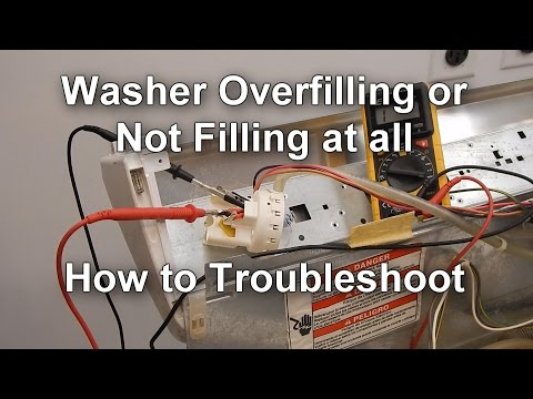 Front Load Washer How To Repair A Stuck Water Valve Doovi
