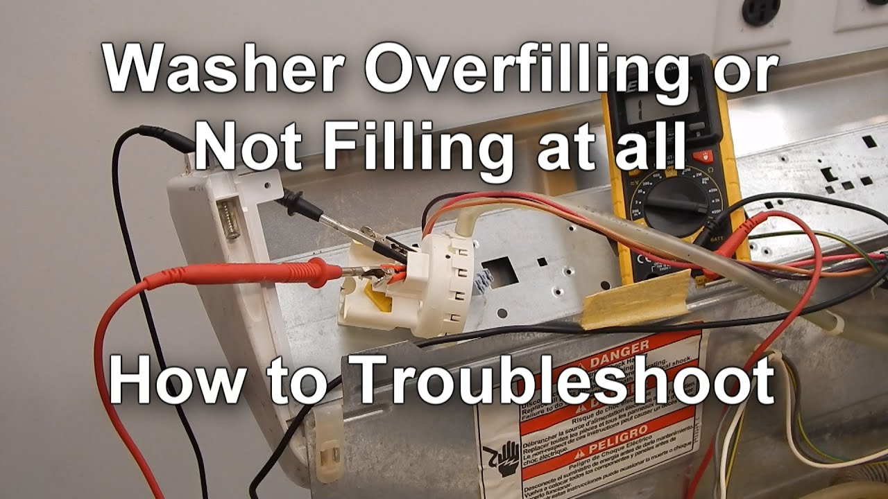 Frigidaire Wiring Diagram Clarion Xmd3 How To Test The Pressure Switch On Your Washer - Not Filling Or Overfilling With Water Youtube
