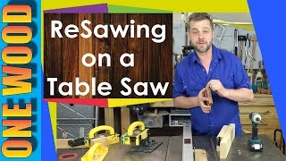 Resawing On A Table Saw With A Microjig Grr-ripper, Woodworking Safety Tip