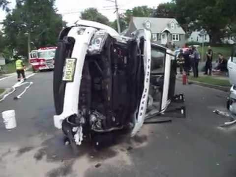 VIDEO: Adults, Children Hospitalized After SUVs Crash In Ridgewood