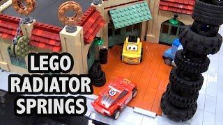 Huge LEGO Radiator Springs City from Cars Movie