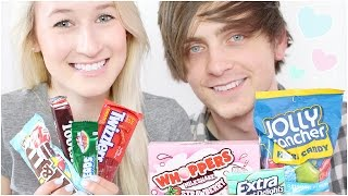 Trying American Candy (With My Boyfriend) | sophielouisebeauty