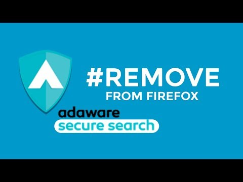 How to remove Lavasoft Adaware Secure Search from Windows Firefox Browser