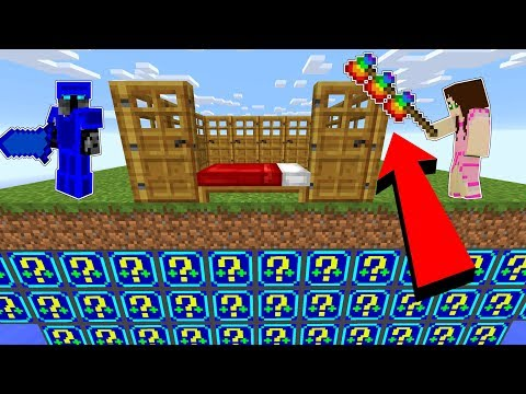 Minecraft: *CRAZY DEFENSE* NIGHT LUCKY BLOCK BEDWARS! - Modded Mini-Game
