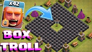 Clash Of Clans - BOX TROLL!! ALL TROOPS / ALL HEROES IN A BOX!! (King hulk)