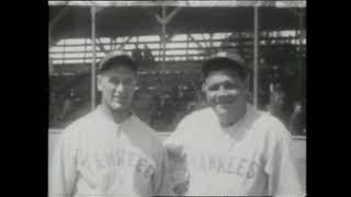 The Immortal Lou Gehrig! (Here is amazing footage of his playing career)