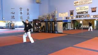 Tim Runk practicing Kama Shodan kata
