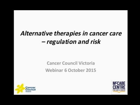 Alternative therapies in cancer care – regulation and risk