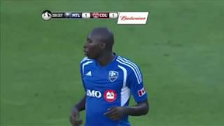 GOAL: Camara scores while juggling from ground, bicycling it | MTL Impact vs COL June 29, 2013