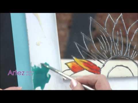Como decorar el marco de un espejo youtube for Como colocar un espejo sin marco