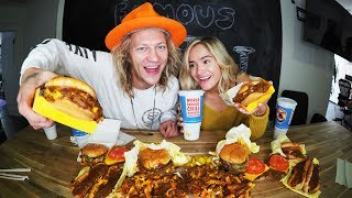 World Famous Tommy's Burger Mukbang ft. Chachi Gonzales!