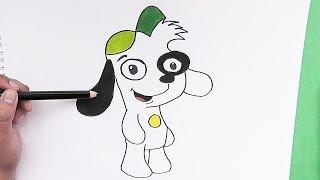 Dibujando y pintando paso a paso a Doki (Aventuras de Doki) - Drawing and painting step by step Doki