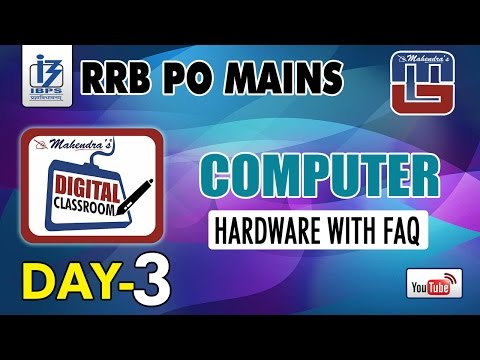 HARDWARE WITH FAQ | DAY - 3 | #Rrb_PO_MAINS | COMPUTER | #digitalclassroom